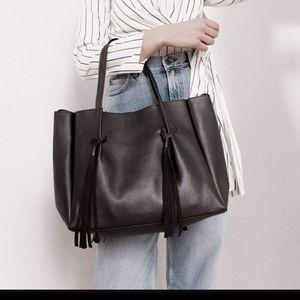 B-low the Belt Miguel Vegan Leather Black Tote Bag